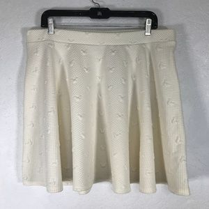 Disney LC Lauren Conrad Mini Skirt Off White Waffl